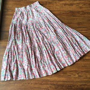 Vintage floral maxi skirt, small/medium